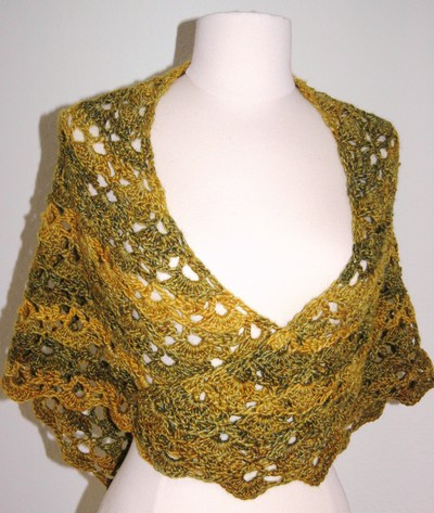 lace shawl for women, free crochet pattern | make handmade
