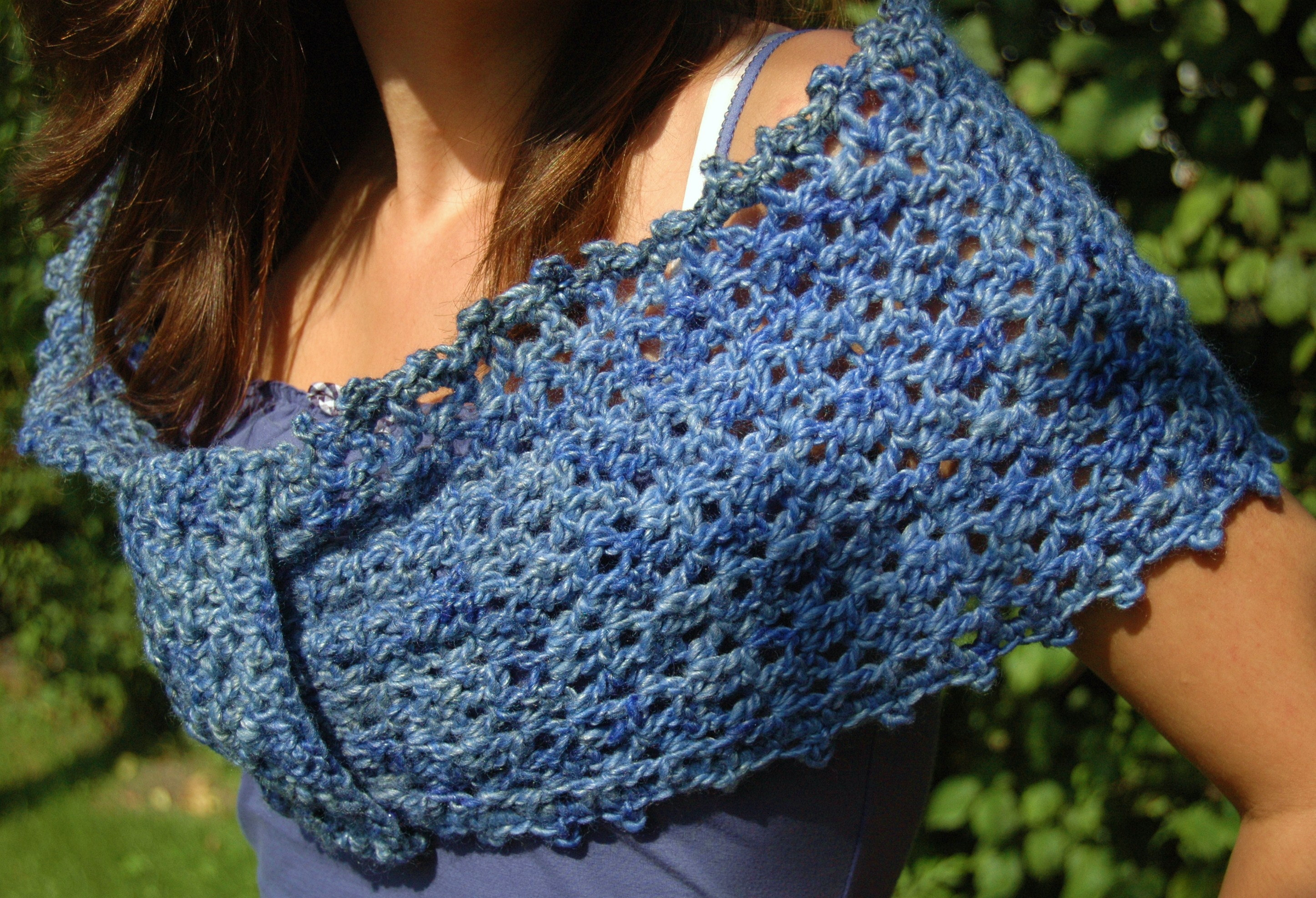 With A Tangled Skein: Crochet Wrap pattern