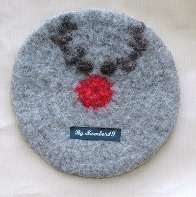Free Crochet Pattern - Red Nosed Reindeer Hat from the Kids Free