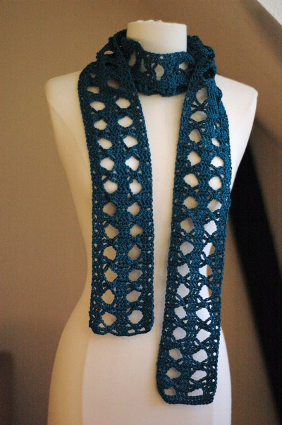 Crochet Stitches Good For Scarves : crochet pattern for a scarf. It is made with simple crochet stitches ...