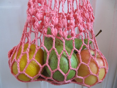 Crochet Net Bag : Crocheted String Bag - Art of Tangle Crochet
