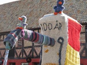 yarnbombing malmø sweden